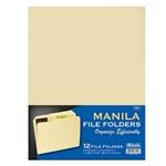 12 Pcs Letter Size Manila File Folder, Three Tab Position File Folder