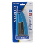 Bright Color Standard (26/6) Stapler w/ 500 Ct. Staples - Home, School and Office - Blue