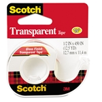Scotch Transparent Tape In Handheld Dispenser, 1/2 Inch x 450 Inch, Refills Easily