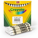 Crayola Bulk Crayons, White, 12 Count, Water Proof Double paper wrapped wax