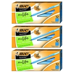BIC Round Stic Xtra Precision Ballpoint Pen, Fine Point (0.8mm), Blue, 36-Count - Pack of 3