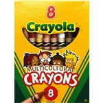 Crayola Multicultural Crayons - 8-Count, Assorted Skin Tone Colors, Safe and Nontoxic