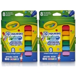 Crayola Pip-Squeaks Coloring Book 16-Count Washable Markers Multi Unique colors