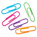 NiftyPlaza Jumbo Paper Clips, 200-Count 2 Inch Assorted Colors Durable Steel Vinyl Coated Wire 50 mm Clips