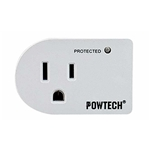 Trisonic Single Outlet 3 Prong Power Adapter Grounded Wall Tap Surge Protector Plug