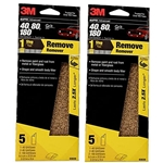 3M Auto Advanced Sandpaper, 40, 80, 120 Assorted Grits, 3 2/3 in x 9 in, 10 Sheets, Packaging May Vary - 2 Pack