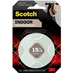 Scotch Indoor Mounting Tape, 1/2-in x 75-in, White, 1-Roll (110S-ESF) Ideal for Painted Surfaces