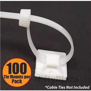 3 4 Inch Cable Ties Mounts 100 Self ADHESIVE Heavy Duty Clips White