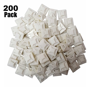 100 Pack Zip Tie Adhesive Mounts Self Cable Base Holders With Multi-Purpose 200