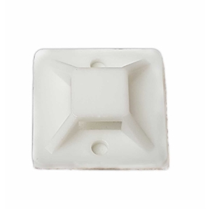 b041024d3f55 1.1 Inch Cable Tie Mounts Self ADHESIVE Clips Base - 100 Pack - (30mm x  30mm) Premium Grade Strength - White