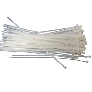 100 PACK 6 INCH ZIP TIES NYLON BLACK 18 LBS UV WEATHER RESISTANT WIRE CABLE