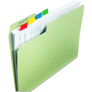Standard Page Flags in Dispenser 1in Wide BlueInitial Here 100 Flags